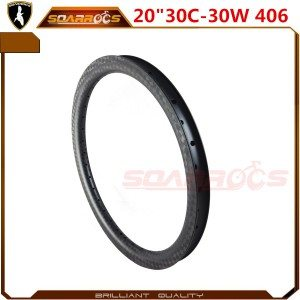 bmx wheels 20 inch rims 30mm clincher 30mm width BSD 406mm custom bicycle rims BMX carbon rims