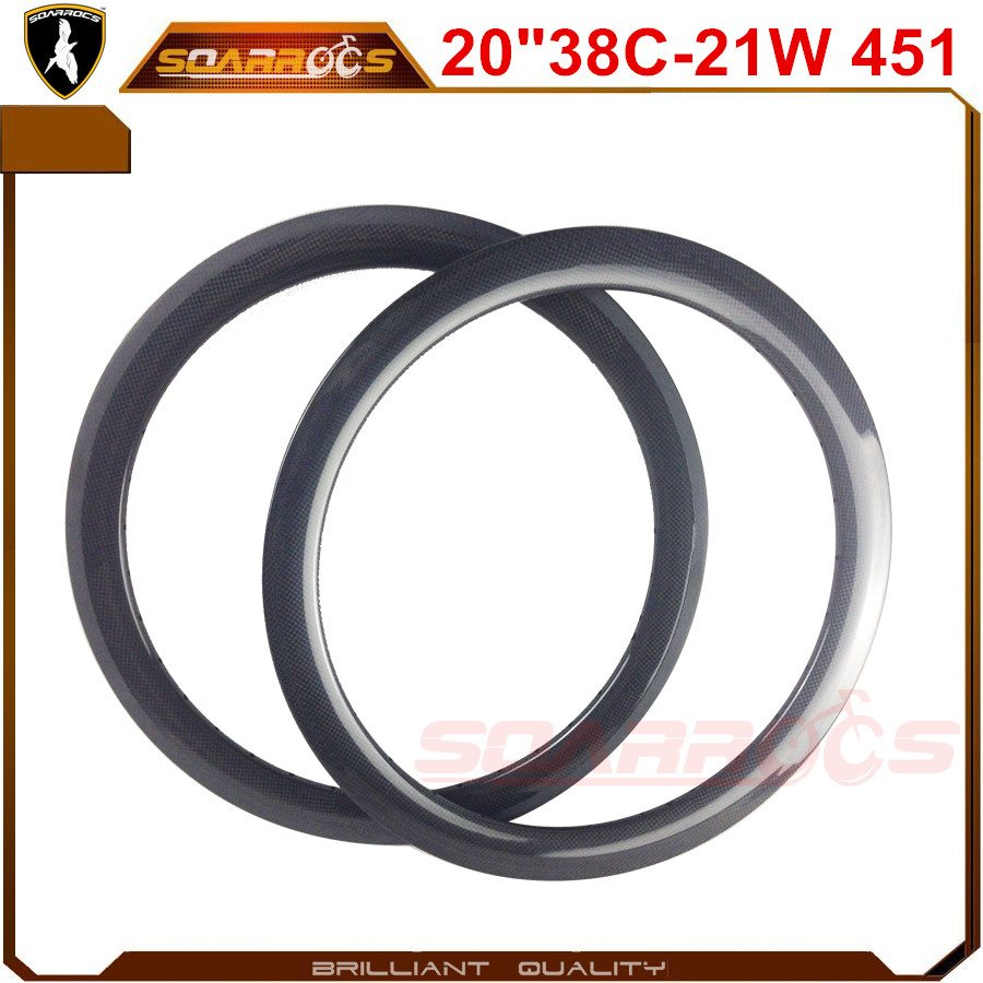 20 inch BMX rims carbon cheap bike rims 38mm clincher 21mm width custom carbon fiber BMX bicycle racing rims