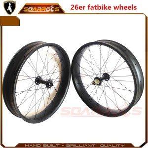26er specialized carbon fat bike carbon fiber bicycles 25mm tubeless hookless 80/100mm width carbon fat bike wheels