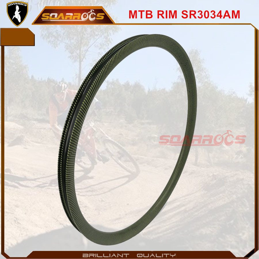 Factory Price For Soarrocs 29er carbon rims AM cheap carbon rims 30mm depth 34mm wide carbon mountain bike rims Supply to Leicester