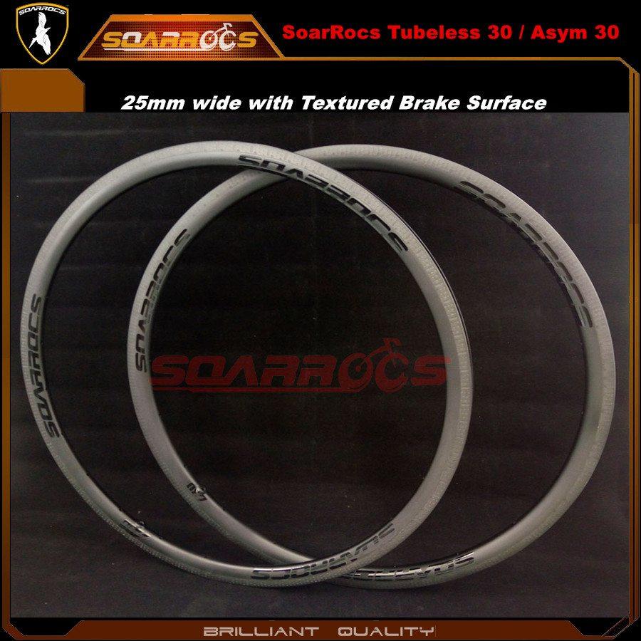 Carbon fiber road bike rims 30mm tubeless clincher bicycle wheel rims UD matte 20h/24h/28h asymmetric carbon fiber rims
