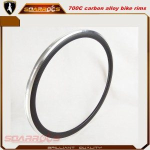 Carbon alloy 24/38/50/60/80/90mm clincher bicycle rims 700c best value carbon aluminium road bike rims