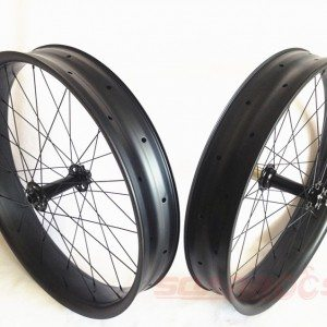 Factory Cheap 26er specialized carbon fat bike carbon fiber bicycles 25mm tubeless hookless 80/100mm width carbon fat bike wheels for St. Petersburg Factories