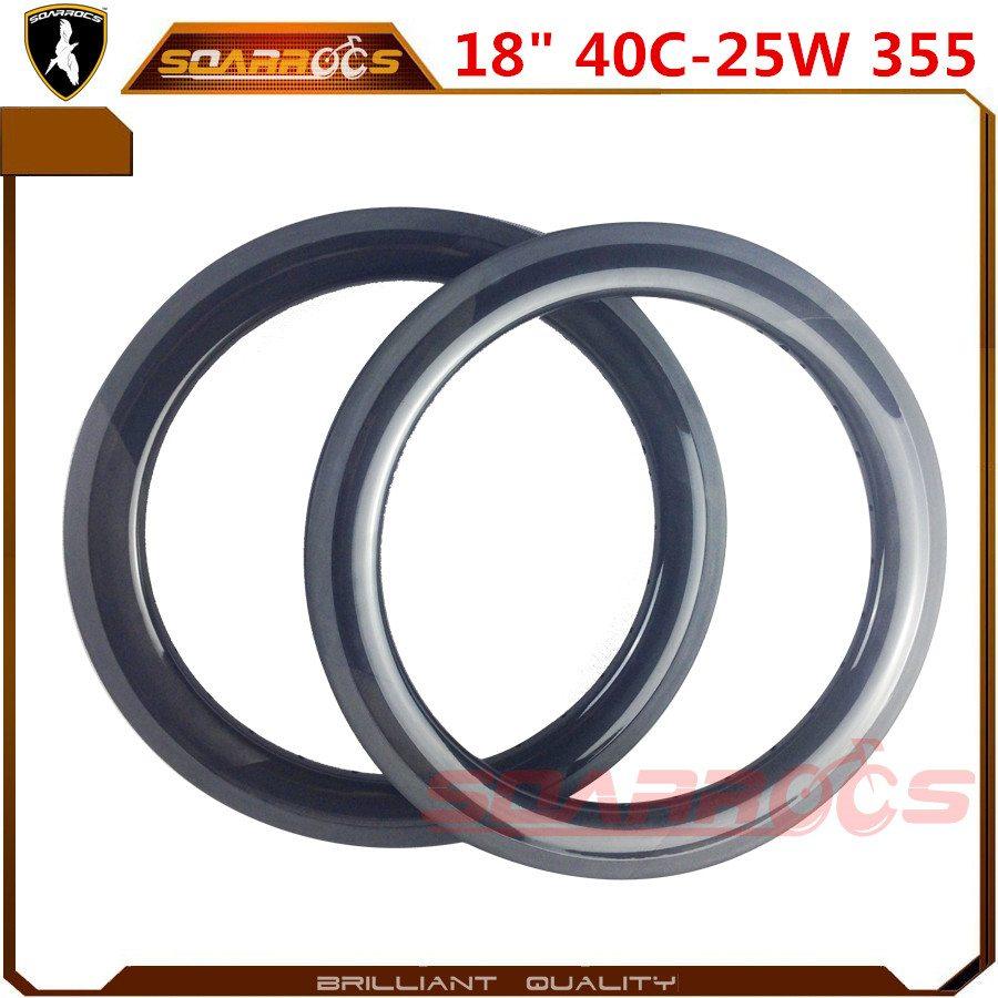 18 inch bike rims 40mm clincher BMX bike wheels U shape 25mm width BMX rims for sale
