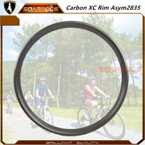 MTB rim Asym2835 mtb 29 wheelset carbon fiber rims bicycle carbon rims mtb 27.5 inch XC rim of mountain bike wheels for sale
