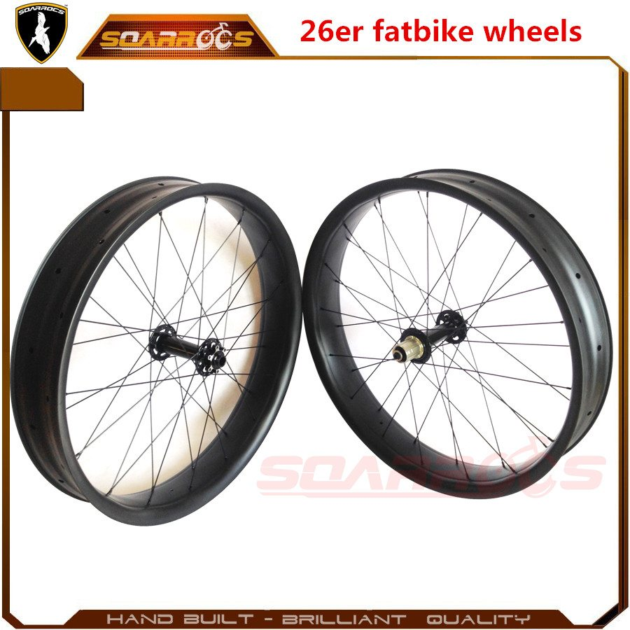 26er specialized carbon fat bike carbon fiber bicycles 25mm tubeless hookless 80/100mm width carbon fat bike wheels
