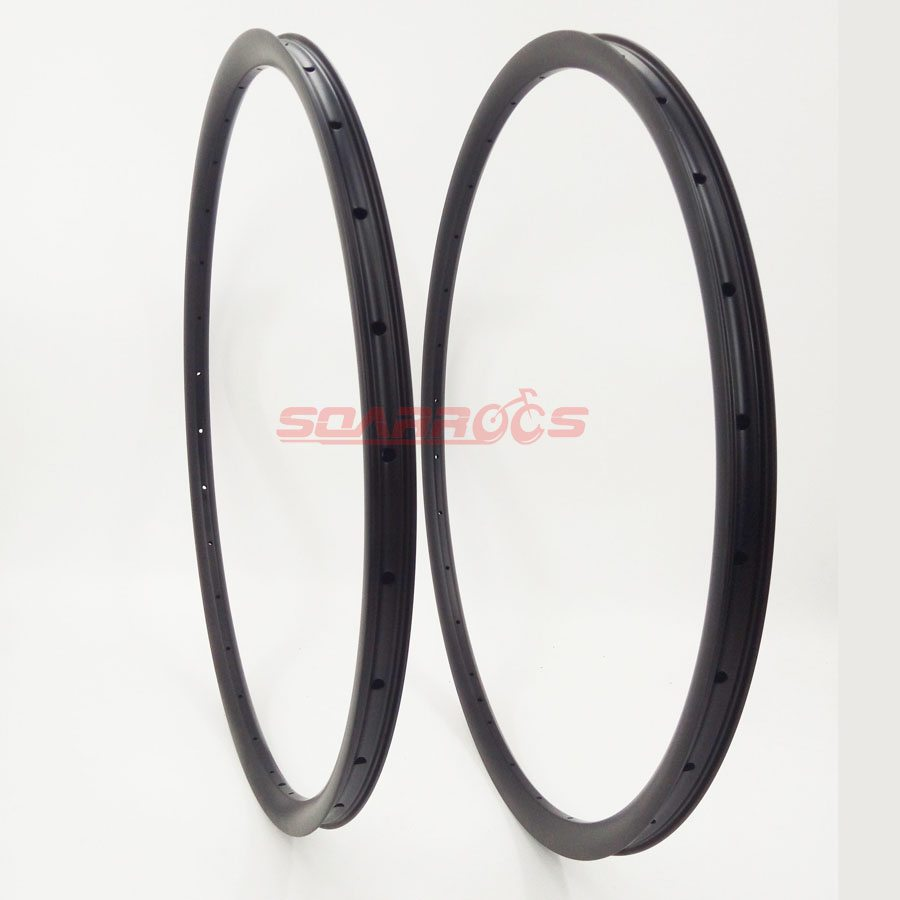 New 27.5inch Carbon MTB Bicyle Rim 24mm Wide Tubeless Mountain Bike Rim 32H 1pc