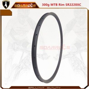 Ultralight 300g SR2228XC carbon fibre mountain bike 29er cyclo cross carbon mtb rims