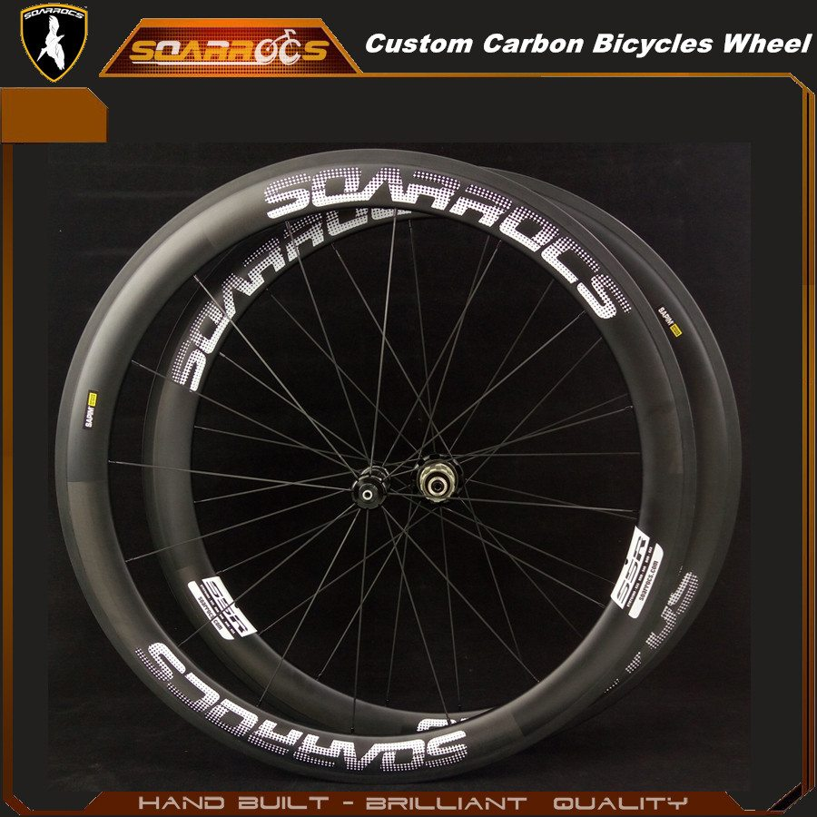 Custom carbon bicycles 50mm carbon wheels with 240s hub CX ray spoke lightweight road bike wheels carbon clincher wheelset