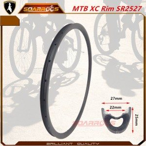 SR2527 XC carbon bike rims 27mm width for 27.5 inch and 29 mountain bike wheels