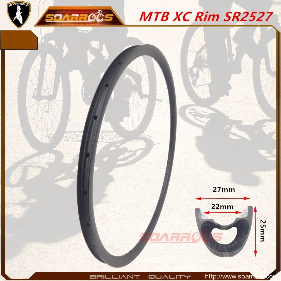 Sr2527 Xc Carbon Bike Rims 27mm Width For 27 5 Inch And 29 Mountain