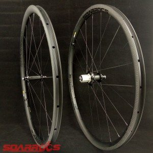 30mm custom road bike wheels 25mm wide road bike wheelset with textured brake CX ray spokes 700c bike wheels